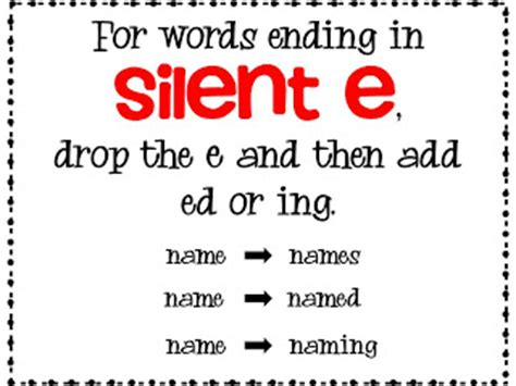 rule adding suffixes ed and ing changes the tense of a verb the honey bunch spelling freebie