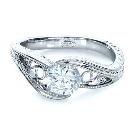 custom engraved solitaire engagement ring 1312