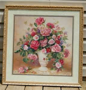 Found Interiors Home Interiors Roses Picture Signed By Artist Di Giacomo