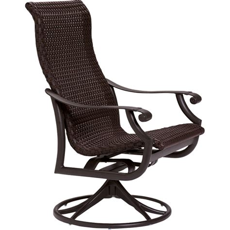 Patio Furniture Sets With Swivel Rockers Montreux Woven Swivel Rocker Tropitone