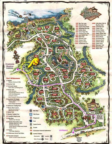 Disney Fort Wilderness Cabins Map by Map Of Disney S Fort Wilderness Pictures To Pin On