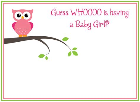 free printable s owl baby shower invitations