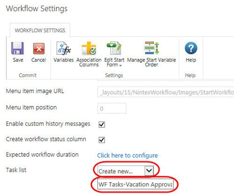 nintex workflow task list how to create a new task list for nintex workfl