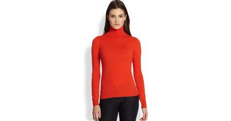 Sweater Black Orange Lis ralph black label turtleneck sweater in lyst