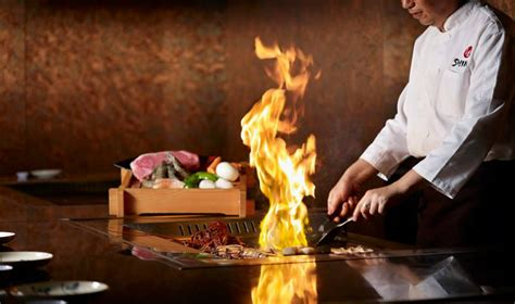 japanese restaurant cook at table where cooking meets performance best japanese teppanyaki