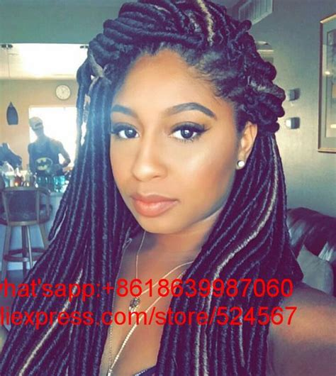 coloured faux locs ombre color 1b 33 long soft faux locs dreadlocks braid 20