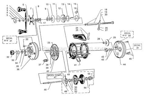 abu garcia reel parts diagram abu garcia 5501 c3 lh parts list and diagram 91 0