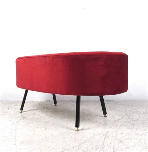 kidney shaped ottoman mid century style kidney shaped ottoman or stool for sale