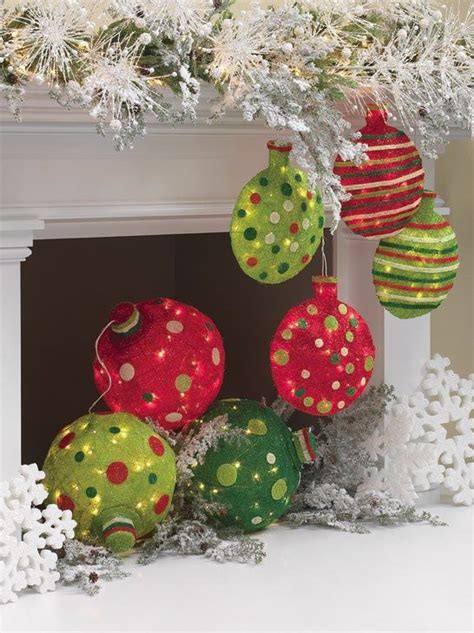 large lighted christmas ball ornaments x mas