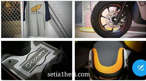 Honda Scoopy Sporty Stylish Ori Wheel Sticker Stiker Velg harga aksesoris honda all new scoopy 12 inch tahun 2017