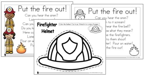 firefighter hat template preschool firefighter preschool pack