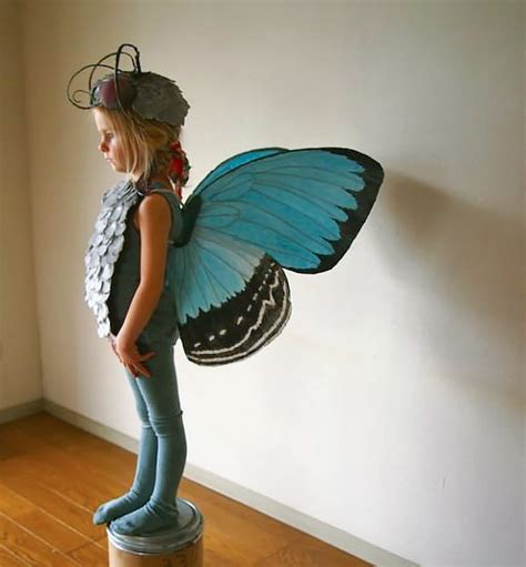 Handmade Butterfly Costume - crush the cardboard collective handmade