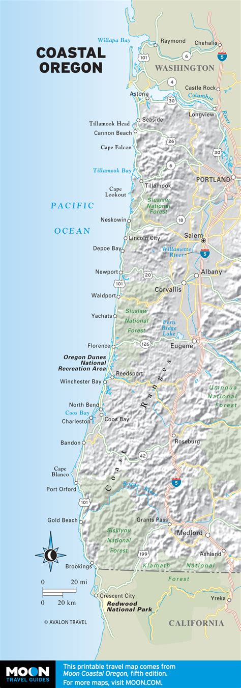 map of oregon coast the best oregon coast beaches for surfing moon travel guides