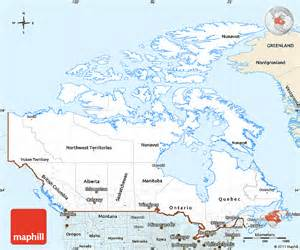classic style simple map of canada