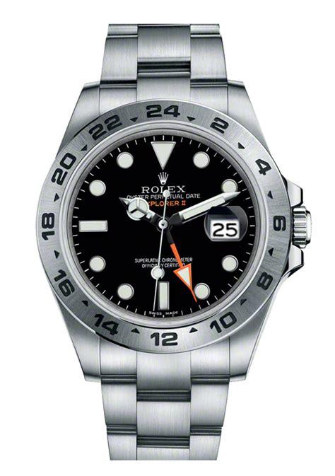 216570 Rolex Explorer II Auto Chronometer Dual Time Zone Watch