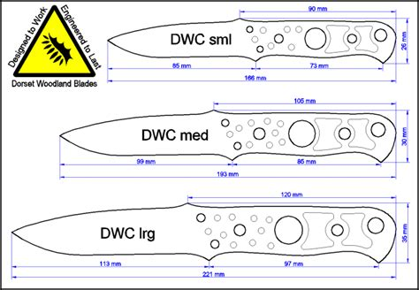 knife dimensions custom knives and modern bushcrafting tools by dorset