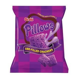 Oishi Pillows by Oishi Pillows Ube Filled Crackers Uno Foods Apo Products