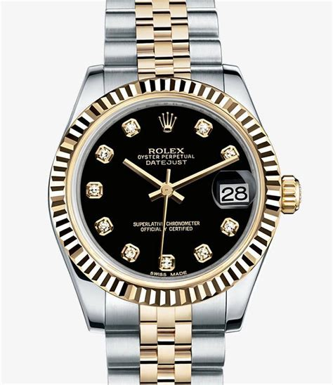 Rolex Classical Combi Black Gold rolex datejust 31 yellow rolesor combination of 904l steel and 18 ct yellow gold