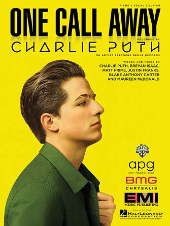 charlie puth genre charlie puth one call away sheet music at stanton s