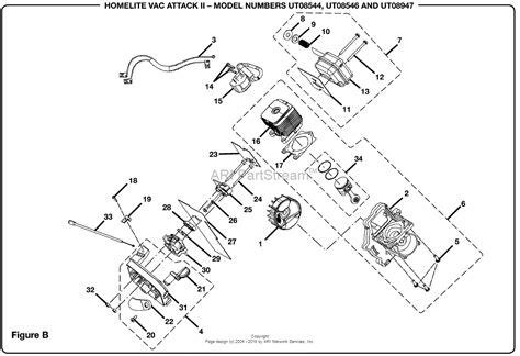 homelite 2 parts diagram homelite vac attack ii blower ut 08546 parts diagram for