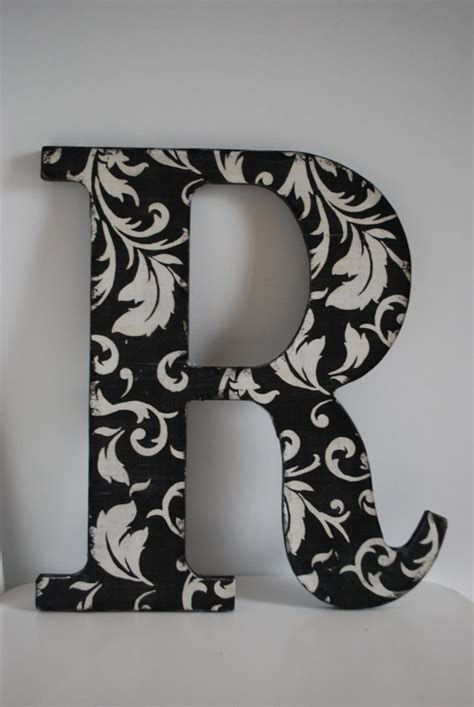 Decorative Wooden Letters by Decorative Wooden Letters Then I Made