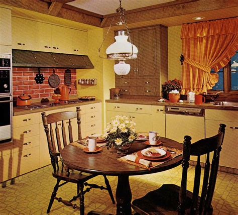 70 s kitchen 1970s kitchen design one harvest gold kitchen decorated