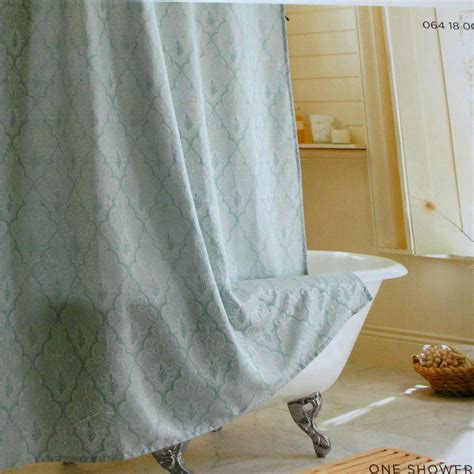 fabric shower curtains target target home blue ogee aqua green fabric shower curtain