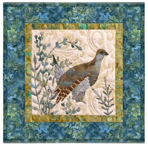 Mckenna Quilt Patterns by Fields End Mckenna Pine Needles Bird Quilt Individual