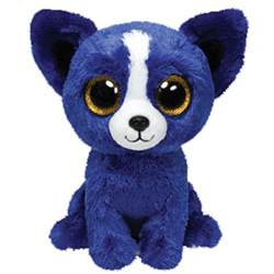 ty beanie boos bone blue dog glitter eyes