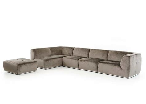 Modern Sectional Couches by Grey Fabric Sectional Sofa Vg389 Fabric