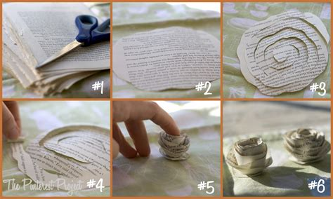 How To Make Book Paper Flowers - you give me a book i ll give you a flower the