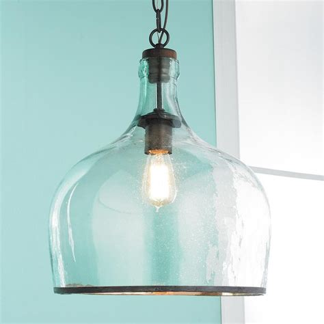 large kitchen pendant lights large glass cloche pendant available in 2 colors clear