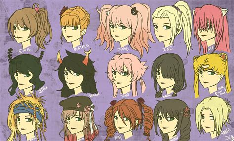 anime hairstyles anime hairstyles by kaniac101 on deviantart