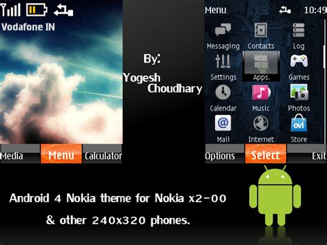 themes for android nokia android 4 nokia theme for nokia 240x320 phones by