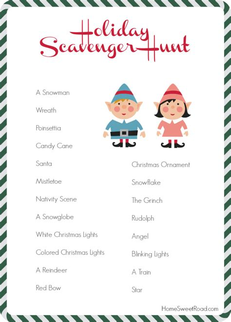 scavenger hunt ideas this holiday season home sweet road