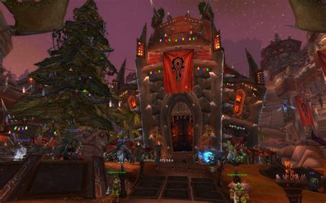 christmas orgrimmar mmorpg com world of warcraft galleries