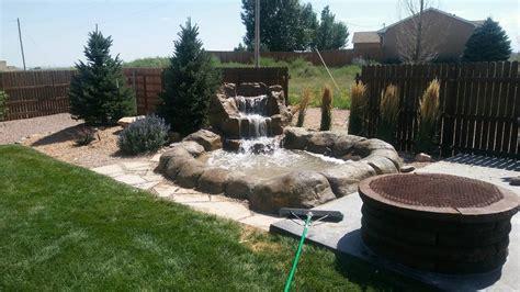 backyard rye backyard water feature contractor for canon city colorado