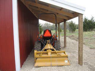 lean   gravel floor covered storage  tractor