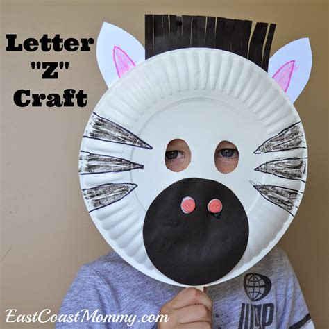 Animal Masks To Make With Paper Plates - east coast alphabet crafts letter z