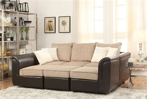 light brown sectional sofa caisy sectional sofa 52245 in light brown velvet brown pu