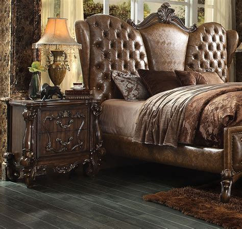 cherry oak bedroom set versailles 6 piece bedroom set in cherry oak finish by