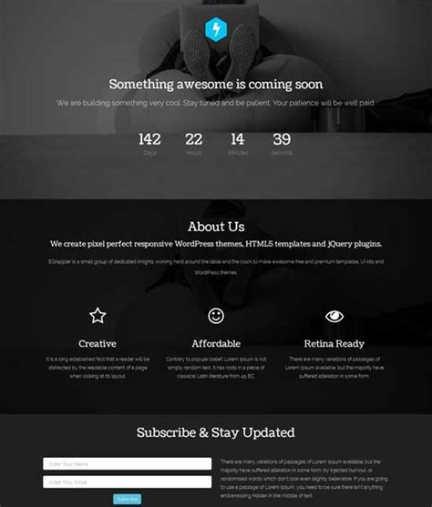 free responsive coming soon page template 40 free html coming soon maintenance
