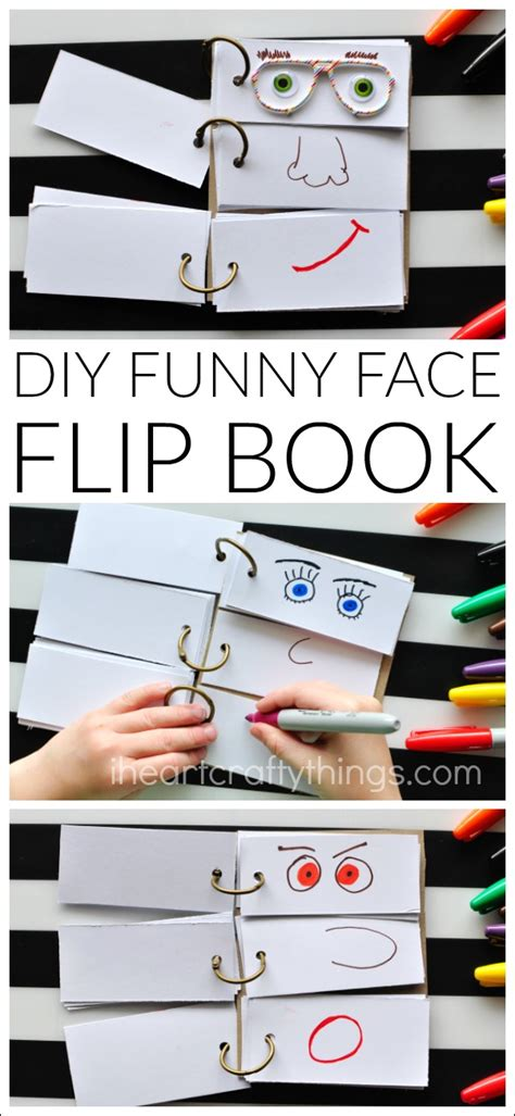 faces of books diy flip book i crafty things