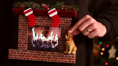 burning fireplace sweater w an