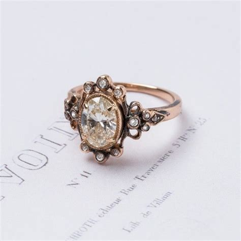 wedding rings vintage style amazing vintage inspired engagement ring set in