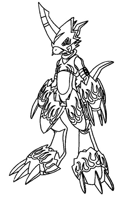 coloring page digimon coloring pages 46