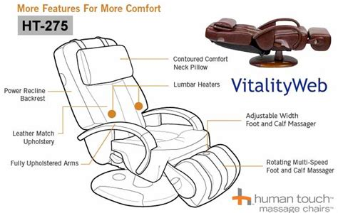100 Human Touch Massage Chair Ht135 Cappuccino