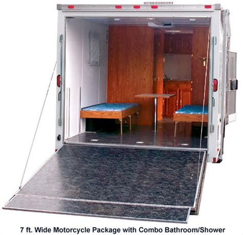 Kitchen Cabinets In Florida by Motorcycle Trailer With Living Quarters Continental Cargo