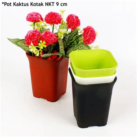 Pot Plastik Warna Warni pot tanaman kecil hias kaktus pot kaktus mini nkt 88 kotak
