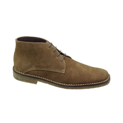 johnston and murphy mens boots johnston murphy runnell chukka boots in beige for